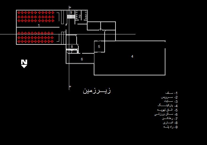 پلان دانشگاه سه طبقه