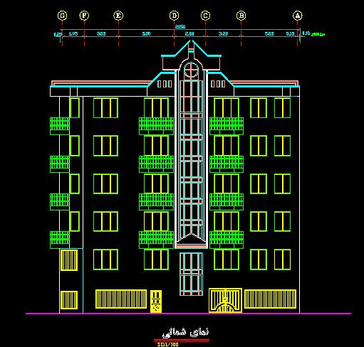 پلان مسکونی هفت طبقه