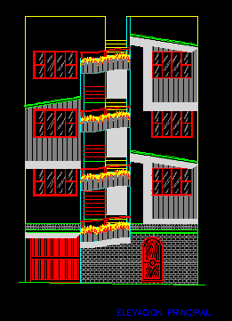 پلان مسکونی چهار طبقه