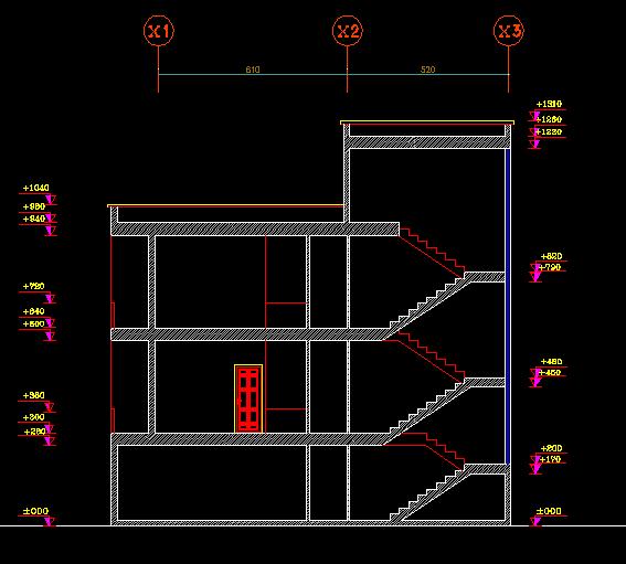 پلان مسکونی سه طبقه مدل 10