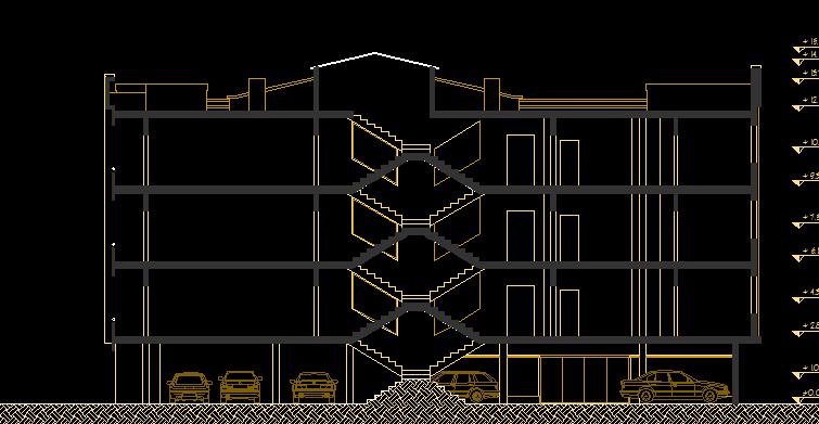 پلان مسکونی چهار طبقه مدل یازده
