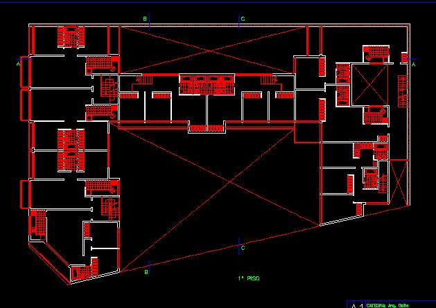 پلان مسکونی سه طبقه مدل 14