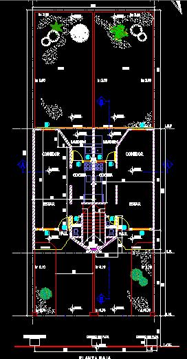 پلان مسکونی دو طبقه مدل 20
