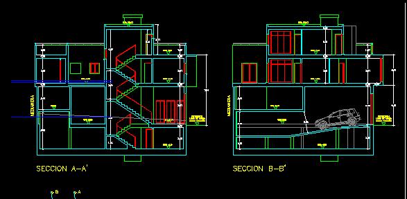 پلان مسکونی سه طبقه مدل 22