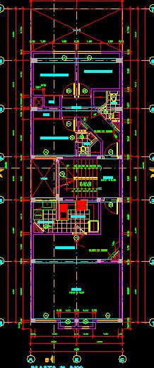 پلان مسکونی چهار طبقه مدل 23