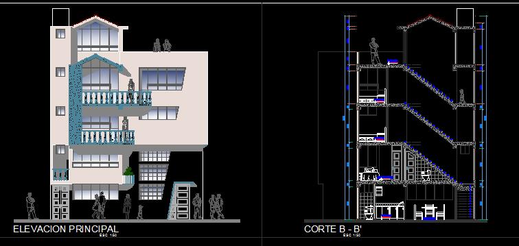 پلان مسکونی پنج طبقه مدل 24
