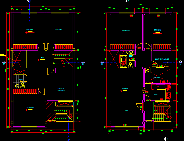 پلان مسکونی سه طبقه مدل 25