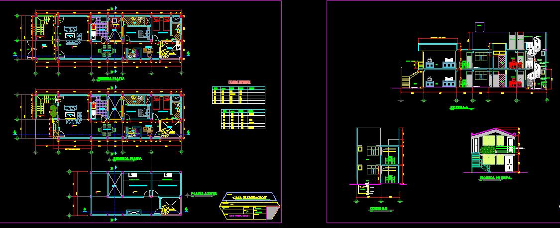 پلان مسکونی دو طبقه مدل بیست و هفت