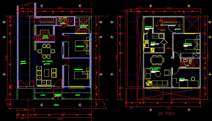 پلان مسکونی سه طبقه مدل بیست و هشت