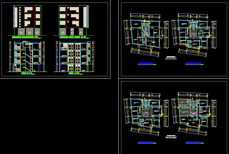 پلان مسکونی چهار طبقه مدل سی و یک