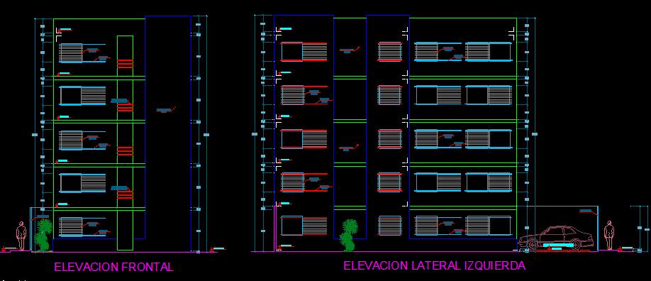 پلان مسکونی پنج طبقه مدل سی و شش