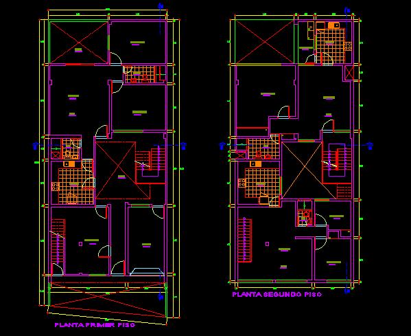 پلان مسکونی سه طبقه مدل سی و هفت
