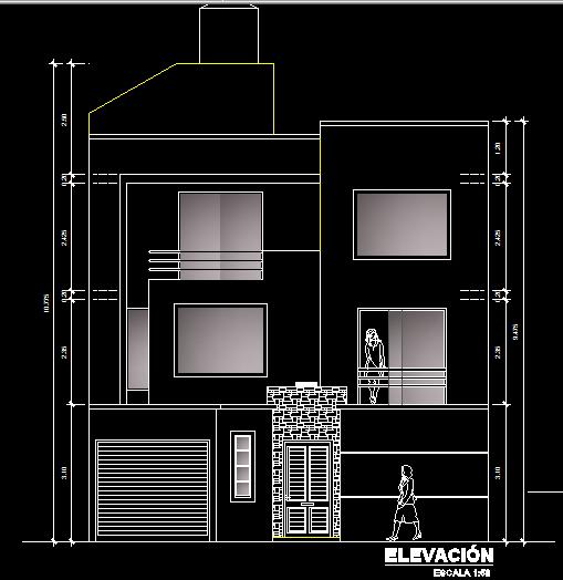 پلان مسکونی سه طبقه مدل 6