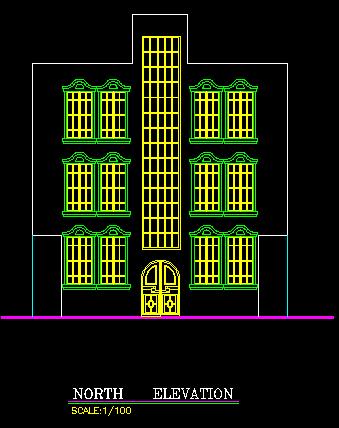 پلان مسکونی سه طبقه