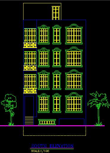 پلان مسکونی پنج طبقه