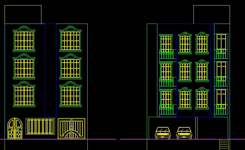 پلان مسکونی چهارپنج طبقه