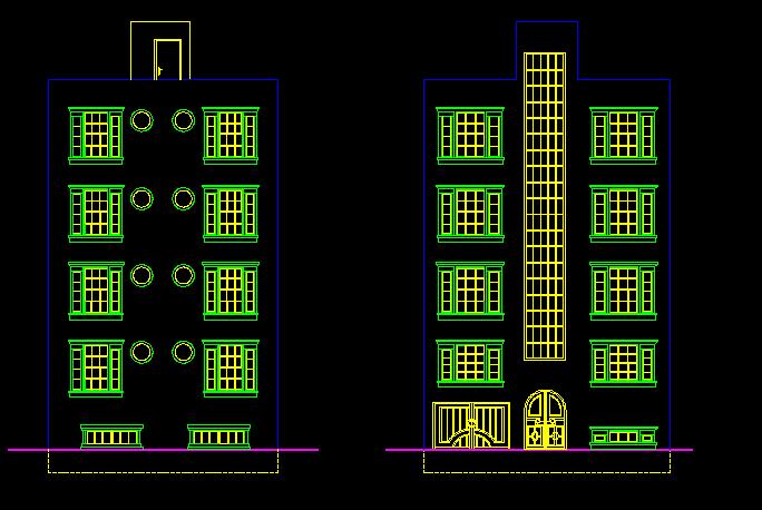پلان مسکونی پنج طبقه حالت 1