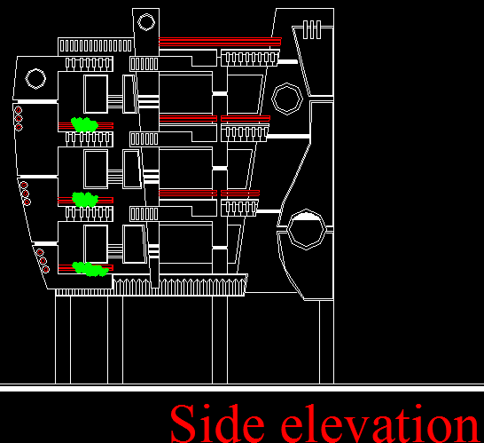 پلان مسکونی چهار طبقه مدل دوازده
