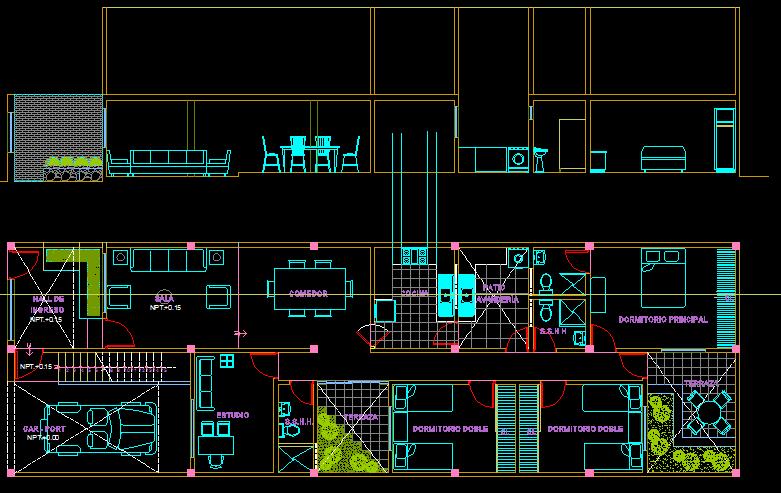 پلان مسکونی سه طبقه مدل 16