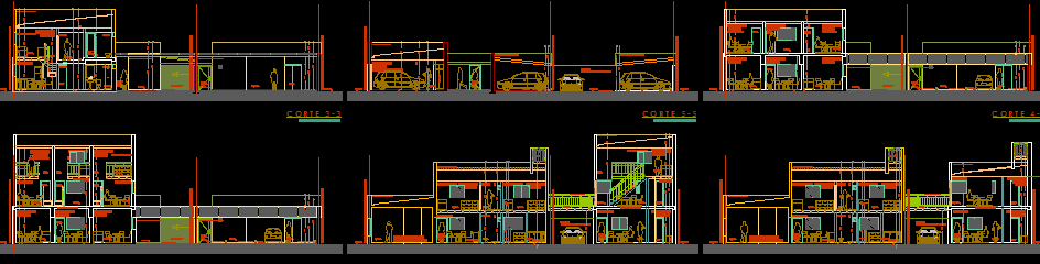 پلان مسکونی دو طبقه مدل 18