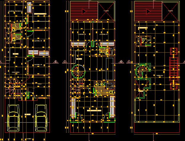 پلان مسکونی سه طبقه مدل بیست و یک