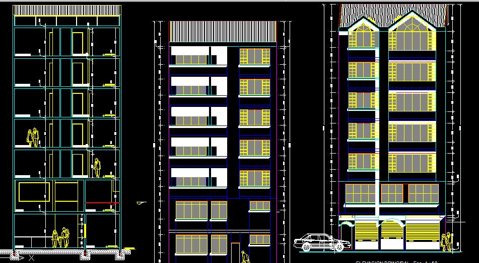 پلان مسکونی هفت طبقه مدل سی و پنج